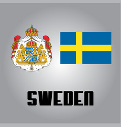 official government elements of sweden vector image