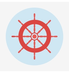 Pirate icon helm of ship flat design vector