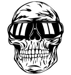 skull in sunglasses vector image vector image