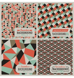 retro-styled seamless patterns vector image vector image