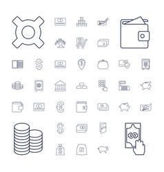 37 bank icons vector