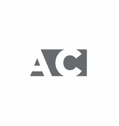 Ac logo monogram with negative space style design vector