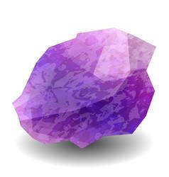 amethyst precious stone gemstone mineral vector image