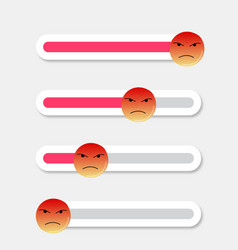 Angry smiley slider indicator vector