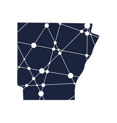 Arkansas state map vector