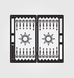 Backgammon on wooden box vector