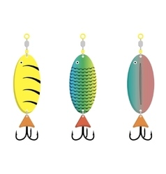 bait fish on a white background vector image