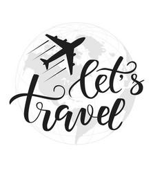 Brush calligraphy travel vector