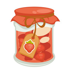 canned red strawberry vector image