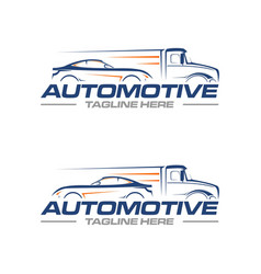 car and truck logo vector image
