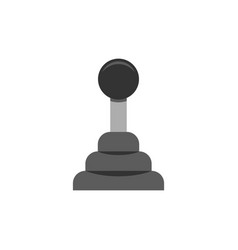 Car transmission icon flat vector