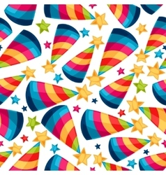Celebration festive seamless pattern with fool vector