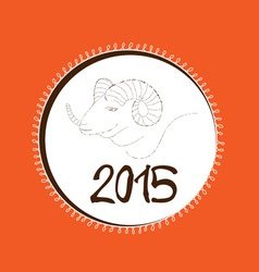 Chinese New Year of the Goat 2015 hand drawn vector