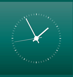 Clock icon office clock on green background vector