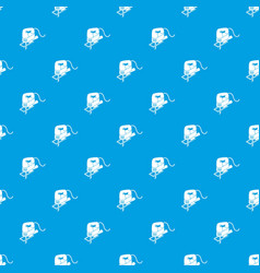 corded jig saw pattern seamless blue vector image