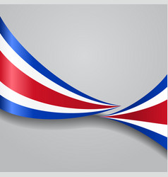 Costa rican wavy flag vector