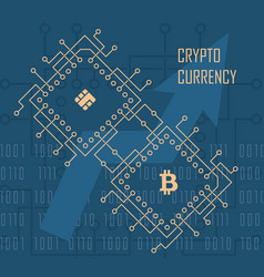 crypto currency background vector image