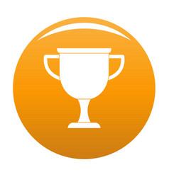 cup award icon orange vector image
