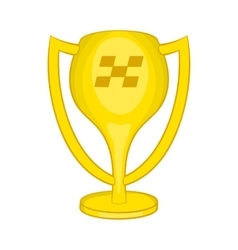Cup for first place icon cartoon style vector image