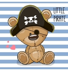 Cute cartoon Bear in a pirate hat vector