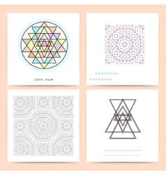 Cute Collection of Templates and modern creative vector