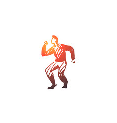 dancing people man dancer party concept hand vector image