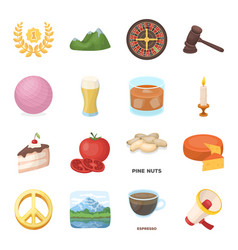 Drink fan food and other web icon in cartoon vector