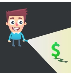 Find a way to make money vector image