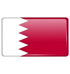 Flags Bahrain in the form of a magnet on vector