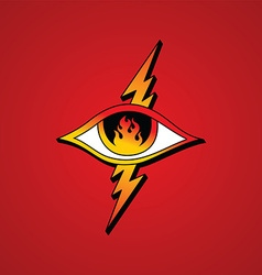 flame eye symbol theme vector image