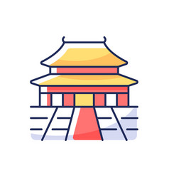 forbidden city rgb color icon vector image
