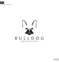 french bulldog logo template vector image