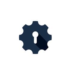 gear security logo icon design vector image