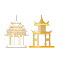 golden and white torii with decorated roof vector image