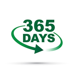 green 365 days vector image