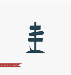 Guidepost icon simple vector