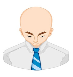 Hair loss in man vector