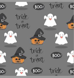 Halloween little ghost seamless pattern vector
