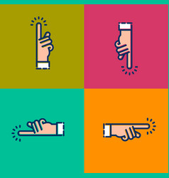 hand icons click here direction parts world vector image