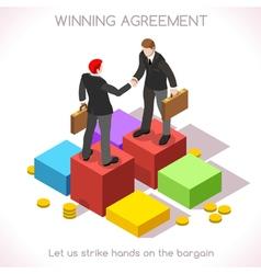 Handshake 03 People Isometric vector