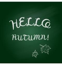Hello autumn card vector