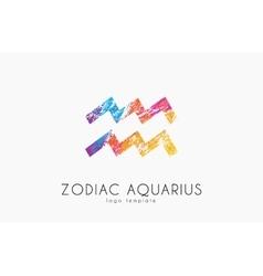 Horoscope symbol Zodiac aquarius logo Zodiac vector