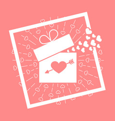 icon valentine day vector image