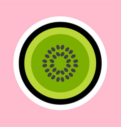 kiwi cartoon sticker vector image