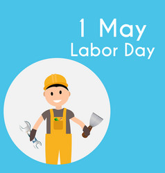 Labor day 1 may poster vector