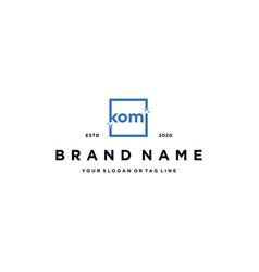 Letter k with square pixels logo design vector