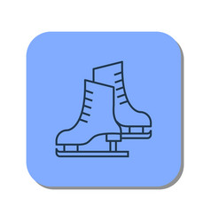 Linear icon of pair of skates for figure skating vector