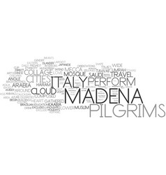 madena word cloud concept vector image