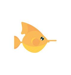 Marine life fish cartoon sea fauna animal vector