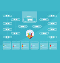 match schedule template for web print football vector image